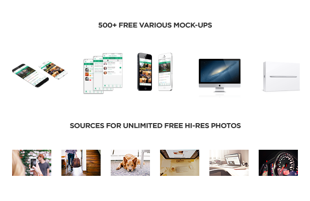 over 500 mockups with high resolution photos