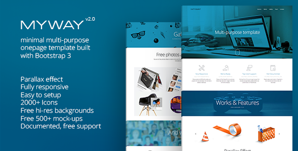 Myway onepage template